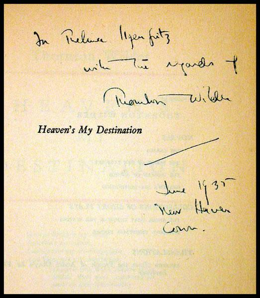 Thornton Wilder Research And Buy First Editions Limited Editions